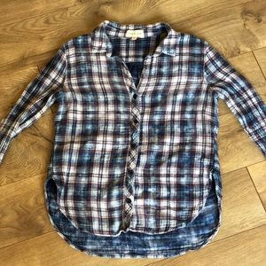 Cloth and Stone blue flannel